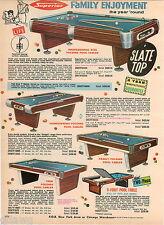 1964 ADVERT Superior Slate Top Billards Pool Tables Folding