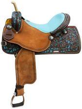 "QUALITY 14""  Western Showman pleasure trail Barrel Racer show saddle leather"