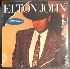 Elton John Breaking Hearts 1984 SEALED USA LP w/ HYPE STICKER
