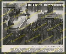 Reichsbahn 1936 Hbf Hamburg Bahnsteig 3 Stromlinien-Lok Henschel-Wegmann 61 001!