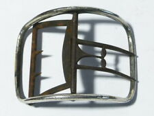 Antique Single 19thC Silver Plated on Steel Shoe Buckle a/f #B13