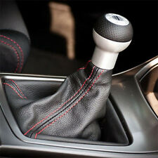 Universal Auto Car Stitch PVC Leather Manual Gear Shifter Shift Knob Boot Cover