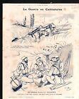 WWI Caricature Guerre Poilus Tranchées / Map Austria-Hungary 1915 ILLUSTRATION
