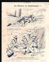 WWI Caricature Guerre Poilus Tranchées / Map Austria-Hungary  1915 ILLUSTRATION