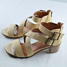 Rampage Havarti Sandals Sz 10 WomensNatural Raffia Strappy Heeled Shoes