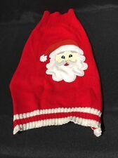Dog Christmas  Sweater Red White Medium Cat Chiwawa Holiday Ugly Santa  Claus