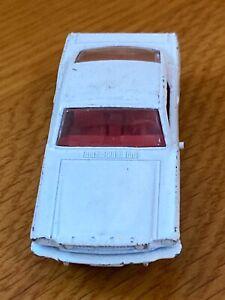 Vintage Matchbox White Mustang #8 Red Interior Working Steering ORIGINAL OWNER
