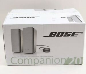 New In Open Box Bose Companion 20 Multimedia Speaker System, Never Been Used