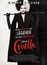 CRUELLA : Emma Stone - Affiche cinema 40X60 - 120x160 Movie Poster
