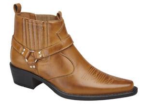 Tan Cowboy Brown Western Line Dancing Boots
