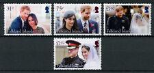 Falkland Isl 2018 MNH Prince Harry & Meghan Royal Wedding 4v Set Royalty Stamps