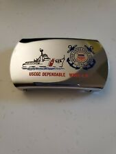 Uscgc Dependable (Wmec-626) Belt Buckle Coast Guard Old Style Zippo