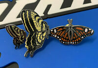 1980's Mafco Vintage Tiger Swallow & Monarch Butterfly (lot of 3) hat pin, lapel