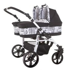 Double Twin Pram Buggy Stroller Travel System Freestyle (pram,pushchair&carseat)