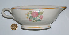 """Victorian Rose by Salem Floral, Gold Trim Replacement 8 1/4"""" Ceramic Gravy Boat"""