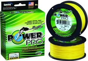 Power Pro 21100200300Y Spectra Braided Fishing Line 20 lb 300 Yd Yellow High Vis