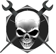 Ironworker Skull/Crossed Spuds on Bolt head Decal/Sticker FREE SHIPPING!!