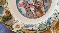 "Vtg New York City travel souvenir plate 9"" 1950s"