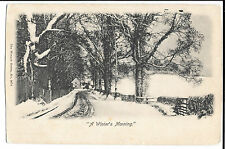 A Winters Morning Wrench 2676 PPC Genealogy Sexton, Avonmore Mansions Kensington