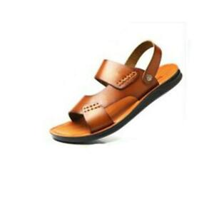 Summer Men Microfiber Leather Sandals Casual Sports Beach Shoes Home Slippers