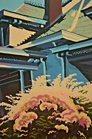 JON CARSMAN Vintage Architecture House Garden Landscape Silkscreen Serigraph AP