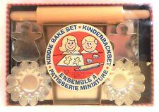 Vintage Fox Run Kiddie Bake Set Rolling Pin Cookie Cutter Muffin Tin USA