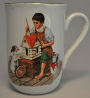 1982 Norman Rockwell Museum Collectible Mug Cup - A Doll House For Sis - Mint