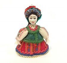 "Russian Hand Painted Porcelain Head 4"" Christmas Ornament"