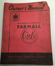Vtg Ih International Harvester Mccormick Deering Farmall Cub owners manual