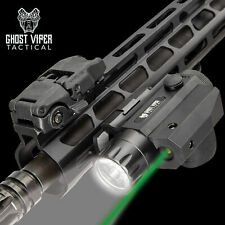 Rifle Green Laser Sight & LED FlashLight Combo Shotgun 20mm Rail Mount Tactical
