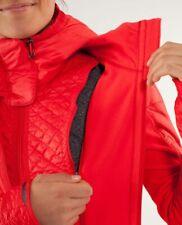 LULULEMON RUN Bundle Up Jacket LOVE RED Quilted Puffer Coat Sz 8 Medium