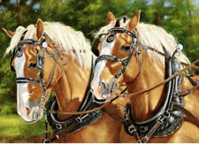 """Counted Cross Stitch Kit """"Draft Horses"""" by Andrea's Designs"""