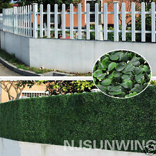 10pcs Artificial Boxwood Hedge UV Grass Mat Topiary Screen Panles 25cm x25cm