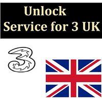 3 THREE Hutchinson UK Unlock service code FOR iPhone 7 plus 7 6 6s 5S 5 5c 4