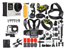 GoPro HERO 4 Silver Edition Camera +40PCS Accessory +OEM Battery+Waterproof Case
