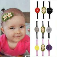 3Pcs Beauty Baby Girls Infant Toddler Flower Bow Headband Band Hair Accesso F8G0