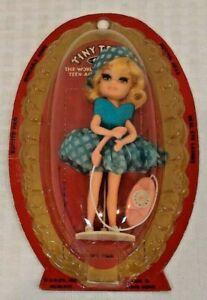 Vintage 1967 TINY TEENS Doll MIB Tea Time Uneeda Rare TinyTeens Hong Kong