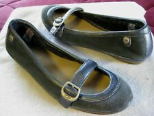 8823f150d8b UGG Sheepskin Lined Sides Gray Slip On Shoes Flats Loafers Size 8