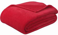 "Sedona House Flannel Fleece Blanket Twin Size 60""x80"", Red"