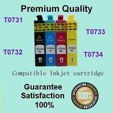 4 x 73N Ink Cartridge Compatible for Epson Stylus TX100 TX110 TX200 TX210 TX400