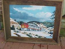 "Original  Art, Acrylic, Gil Bennett, ATSF Grand Canyon, in NM, 1953, 18X24"""