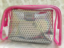 PINK BY VICTORIA'S SECRET MAKE UP BAG DUO COSMETIC BAG WITHIN A BAG