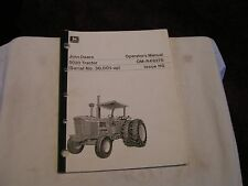 John Deere 5020 Tractors Jd Operators Manual #Om -R48276 Issue Ho