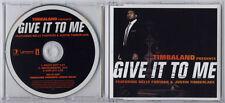 TIMBALAND Give It To Me UK 3-trk promo CD Nelly Furtado Justin Timberlake