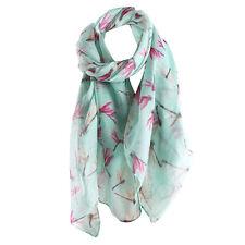 Fashion Womens Scarf Animal Print Long Soft Voile Scarf Warm Wrap Shawl Stole