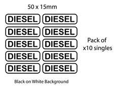 Diesel Stickers (Printed) x10 Pack 15mm High