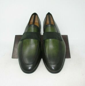 Magnanni for Goodman's Green Penny Loafers size 8 US (22692) 3120