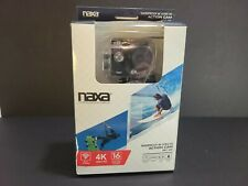 NAXA Waterproof Rechargeable 4K Ultra HD Action Camera w/ 2