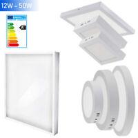 LED Panel Lampe Deckenleuchte Aufputz Wandleuchte mit Trafo 230V 12W 18W 24W 50W