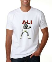 T SHIRT MENS MUHAMMAD ALI S M L XL WHITE BOXING KNOCKOUT GIFT NOVELTY NEW